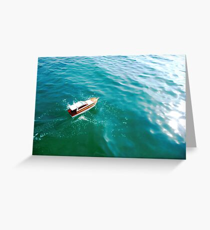 Remote boat Greeting Card