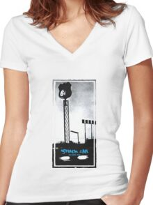Stolen Car, Bruce Springsteen Women's Fitted V-Neck T-Shirt