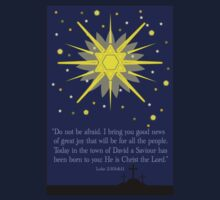 starry sky & crosses (luke 2:10-11)  front by dedmanshootn