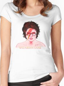 Wizardin Sane Women's Fitted Scoop T-Shirt