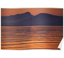 PROVENCE SUNSET 2 BERGE Poster