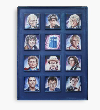 Eleven Doctors and the TARDIS: 50th Anniversary Canvas Print
