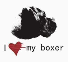 I Love my Boxer Kids Tee
