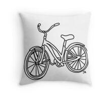 Beach Cruiser Bicycle  Throw Pillow