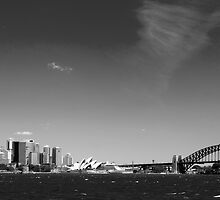 Sydney from a distance black and white by NeilByrne