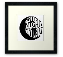 Midnight Memories Moon- Black Framed Print