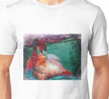 Flamingo Grunge Unisex T-Shirt