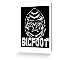The Face of Bigfoot Greeting Card