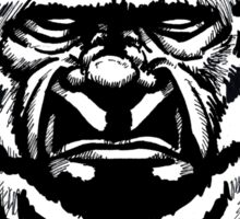 The Face of Bigfoot Sticker