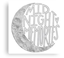 Midnight Memories Moon- Gray  Canvas Print