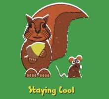 Staying Cool Squirrel and Mouse T-shirt Kids Clothes