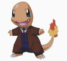 Charmander as the 10th Doctor Kids Tee