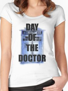 DAY OF THE DOCTOR! Women's Fitted Scoop T-Shirt