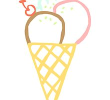 Ice Cream Cone Drawing by kwg2200