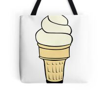 Vanilla Ice Cream Cone Tote Bag