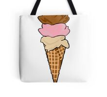Three Scoop Ice Cream Cone Tote Bag