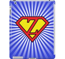 Z letter in Superman style iPad Case/Skin