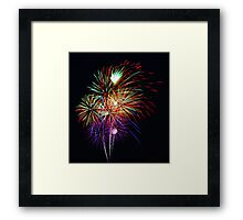 Fireworks Across the Bay Framed Print