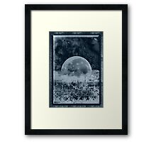 ©DA Moon On Trees IIAB Monochromatic Framed Print
