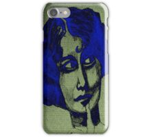 The Lady in Blue iPhone Case/Skin