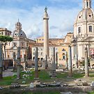 Foro Traiano, Rome by Mark Baldwyn