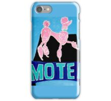 The Pink Poodle Motel Sign [oil ,acrylic,texture paint, painting] iPhone Case/Skin