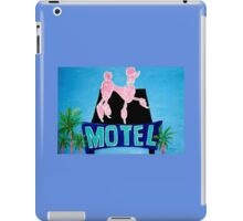 The Pink Poodle Motel Sign [oil ,acrylic,texture paint, painting] iPad Case/Skin