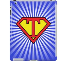 T letter in Superman style iPad Case/Skin