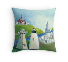 Piney Point Lighthouse in the Potomac River Throw Pillow