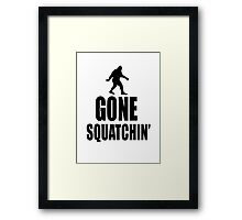 Gone Squatchin' Bigfoot  Framed Print
