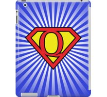 Q letter in Superman style iPad Case/Skin
