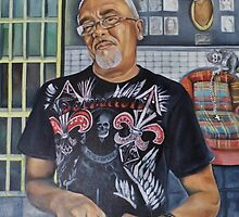 America The Working Poor: Portrait of Lu-E, 2013 by Artist Antonia Posey