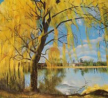 The Weeping Willow, Summer 2013 by Artist Antonia Posey
