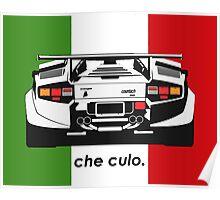Che Culo - Lamborghini Countach Poster
