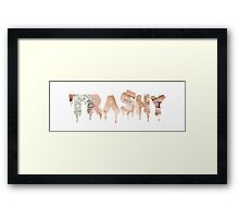 TRA$HY Framed Print