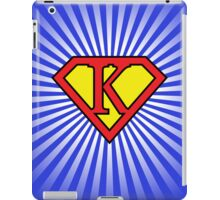 K letter in Superman style iPad Case/Skin