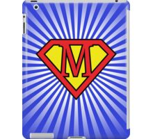 M letter in Superman style iPad Case/Skin