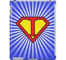 I letter in Superman style iPad Case/Skin