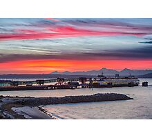 Autumn Sunset over Puget Sound Photographic Print