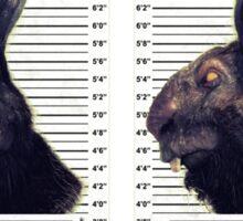 Evil Easter Bunny Rabbit Sticker