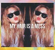 MY HAIR IS A MESS 1. PRINT by Gerard López Pie