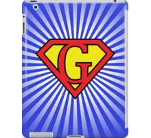 G letter in Superman style iPad Case/Skin