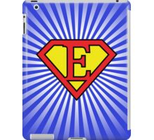E letter in Superman style iPad Case/Skin