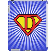 D letter in Superman style iPad Case/Skin