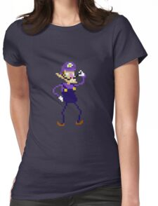 Waluigi Pixel Art Graphic Womens Fitted T-Shirt