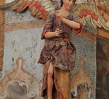 Angel at Mission San Xavier del Bac by ozwille