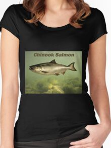 Chinook Salmon Women's Fitted Scoop T-Shirt