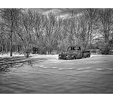 Old Timer In The Snow Photographic Print