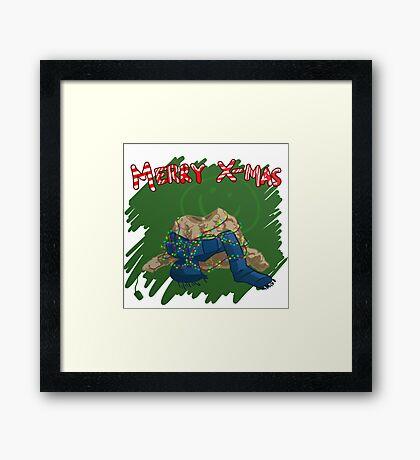 221B Christmas Framed Print