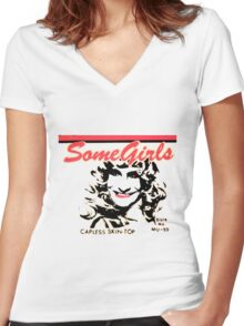 Some Girls The Rolling Stones Women's Fitted V-Neck T-Shirt